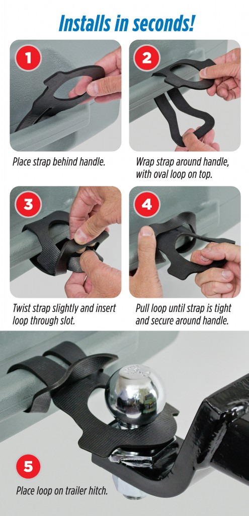 Printable Tow Strap Instruction Card