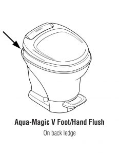 Aqua Magic V Hand and Foot RV Toilet