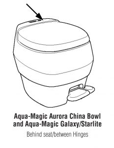 Aqua-Magic Aurora China Bowl and Aqua-Magic Galaxy/ Starlite Toilet RV Toilet