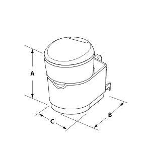 C223-S Cassette Toilet Dimensions