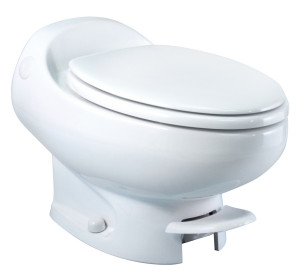 Aria Classic | Low Profile | White | Permanent RV Toilet