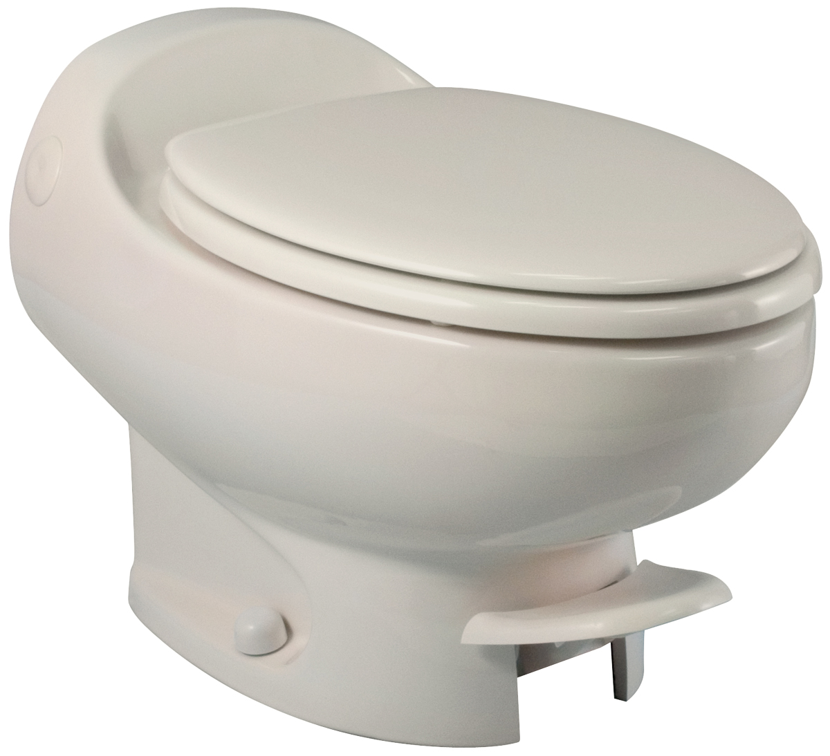 Aria Classic Low Profile Bone Permanent Rv Toilet