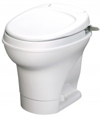 Aqua Magic V - Permanent Toilet - Hand Flush - White