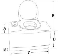 C403L Cassette - Toilet Dimensions