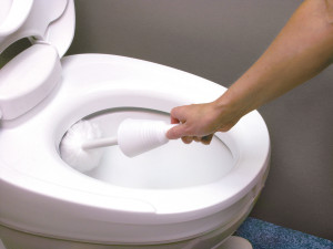 Using the Soft Swab Toilet Brush