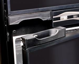 Easy to grab handles. Built-in tab keeps doors ajar while RV is in storage