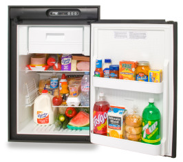 Norcold N410/N412 Refrigerator - Black - Open