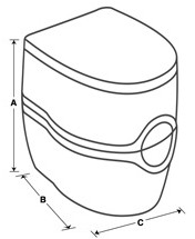Curve Dimensions for Toilet Seat