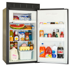 Norcold DC558 RV Refrigerator - Open - Angled