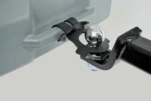 Place look on trailer hitch.
