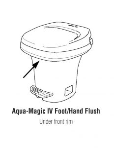 Aqua-Magic IV hand and Foot RV Toilet