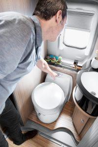 C223-CS Cassette Toilet flushing action