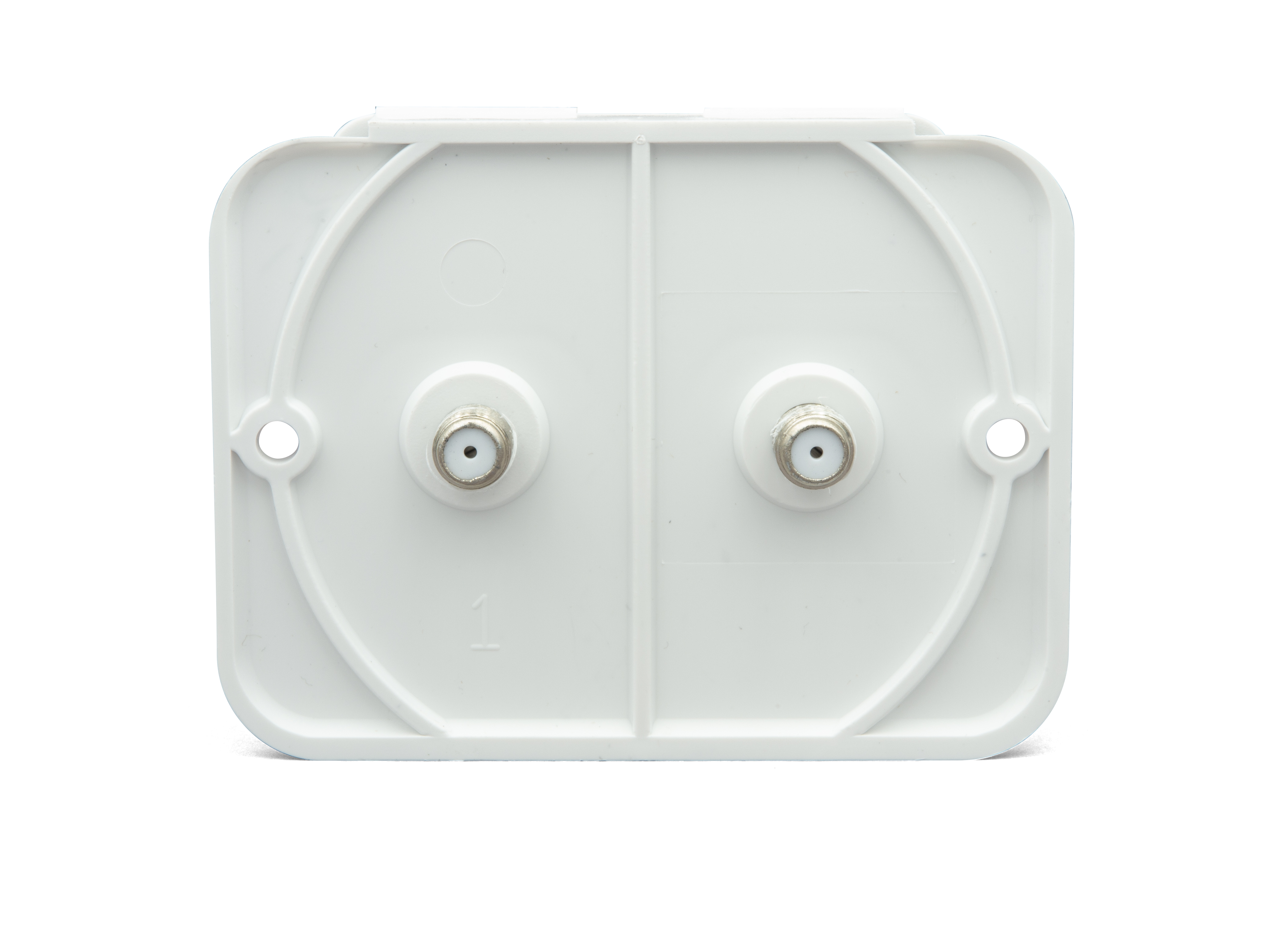 Dual Coax Cable Tv Plate